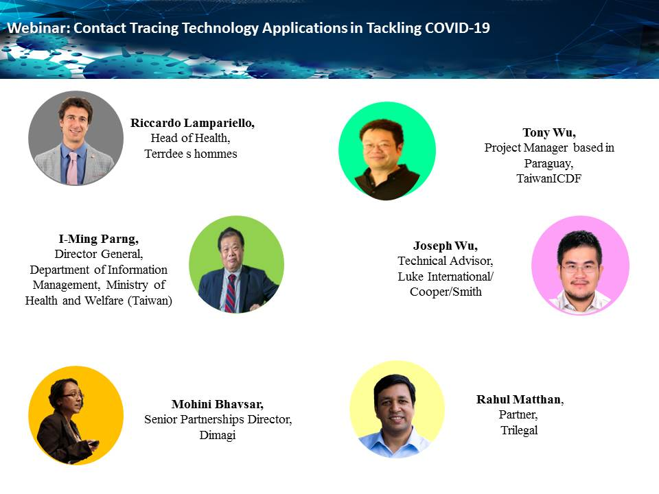 TaiwanICDF cooperated with the Swiss-based INGO Terre des hommes (Tdh) to conduct the Contact Tracing Technology Applications in Tackling COVID-19 Webinar