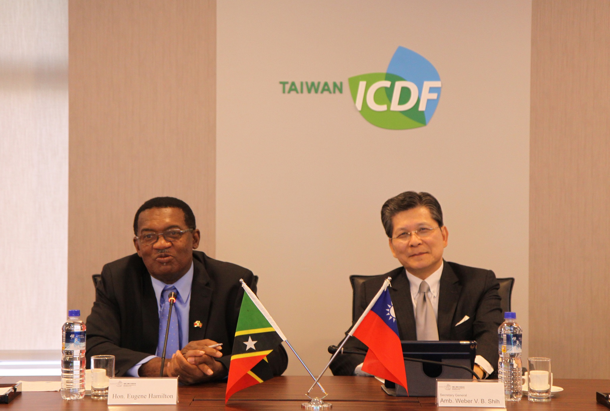 Minister of Agriculture, Health, National Health Insurance, Human Settlement, Community Development, Gender Affairs, Social Services, Cooperatives and Lands of The Federation of St. Kitts and Nevis Hon. Eugene Hamilton Visits the TaiwanICDF