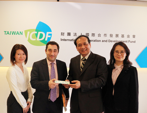 EBRD Managing Director of the Communications Department, Mr. Jonathan Charles Visits TaiwanICDF