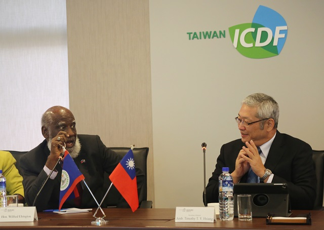 Minister of Foreign Affairs and Home Affairs of Belize Visits the TaiwanICDF