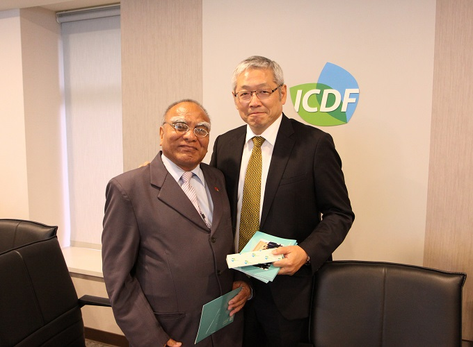 Speaker of the Parliament of Kiribati Visits the TaiwanICDF