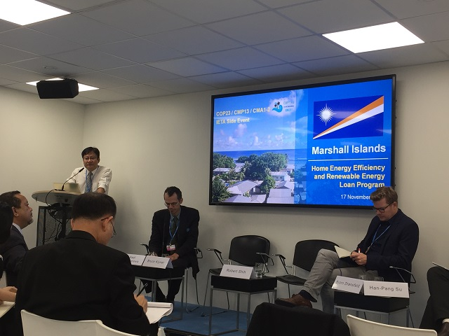 TaiwanICDF shares expected achievements of project in the Marshall Islands at COP23 side event