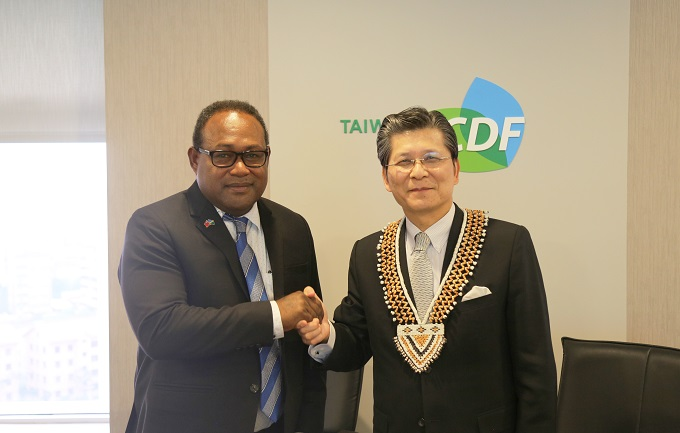 Delegation from Solomon Islands visits the TaiwanICDF