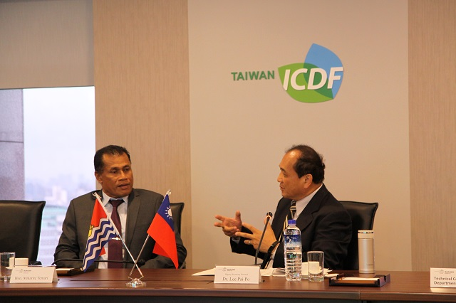 Minister of Kiribati Line and Phoenix Islands Development Leads Delegation to the TaiwanICDF