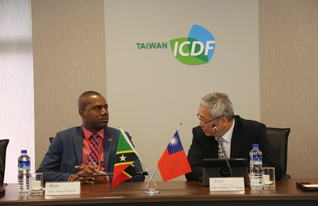 St. Kitts and Nevis' Deputy Prime Minister and Minister of Education, Youth, Sports and Culture Visits the TaiwanICDF