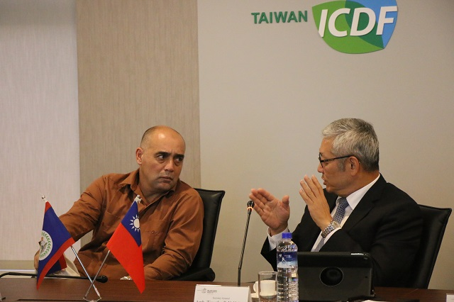 Minister of Fisheries, Forestry, the Environment and Sustainable Development of Belize Visits the TaiwanICDF