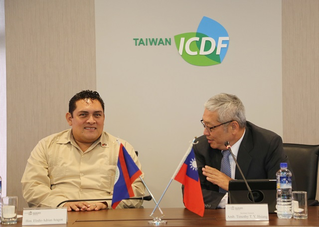 Minister of State of the Ministry of National Security of Belize Visits the TaiwanICDF