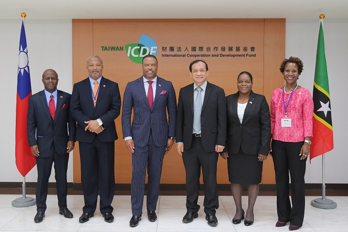 St. Kitts and Nevis Minister of Foreign Affairs and Aviation and Premier of Nevis Visits the TaiwanICDF