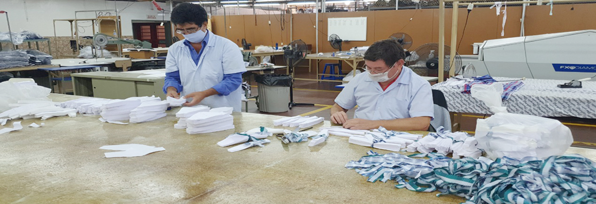 TaiwanICDF assists Paraguay's garment industry in establishing meticulous standards for mask production to help contain COVID-19.