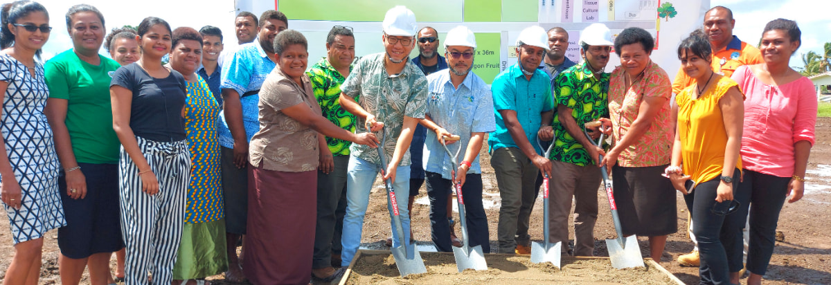 Groundbreaking Ceremony of New Demonstration Farms in Vucimaca and Lakena Near Fiji's Capital