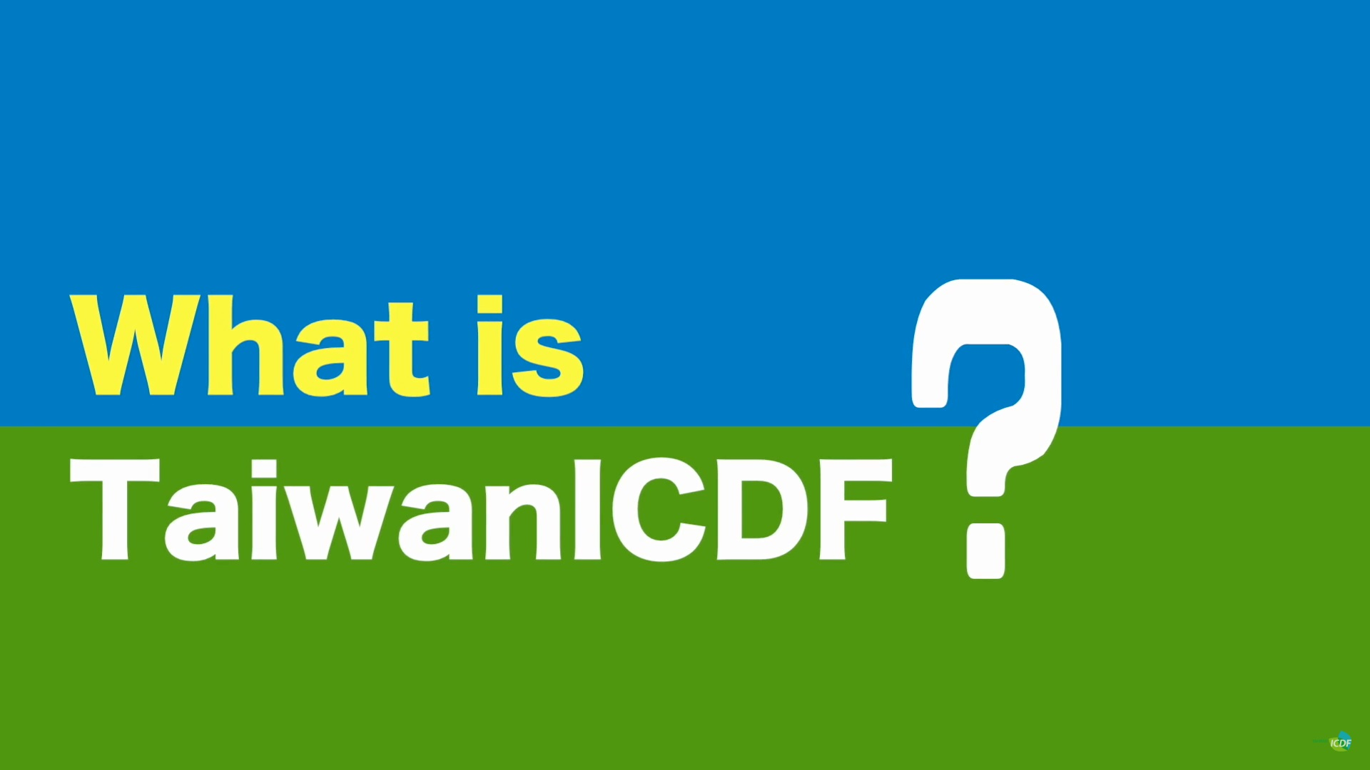 What is TaiwanICDF?