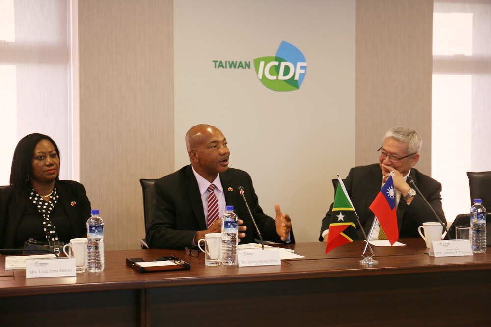 St. Kitts and Nevis Speaker of National Assembly Visits the TaiwanICDF