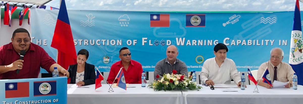 Enhancing Belize's thoughts of disaster prevention and early warning by Taiwan's flood warning technology.