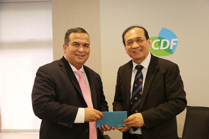 Minister-in-Assistance to the President and Environment Minister of the Marshall Islands Visits the TaiwanICDF